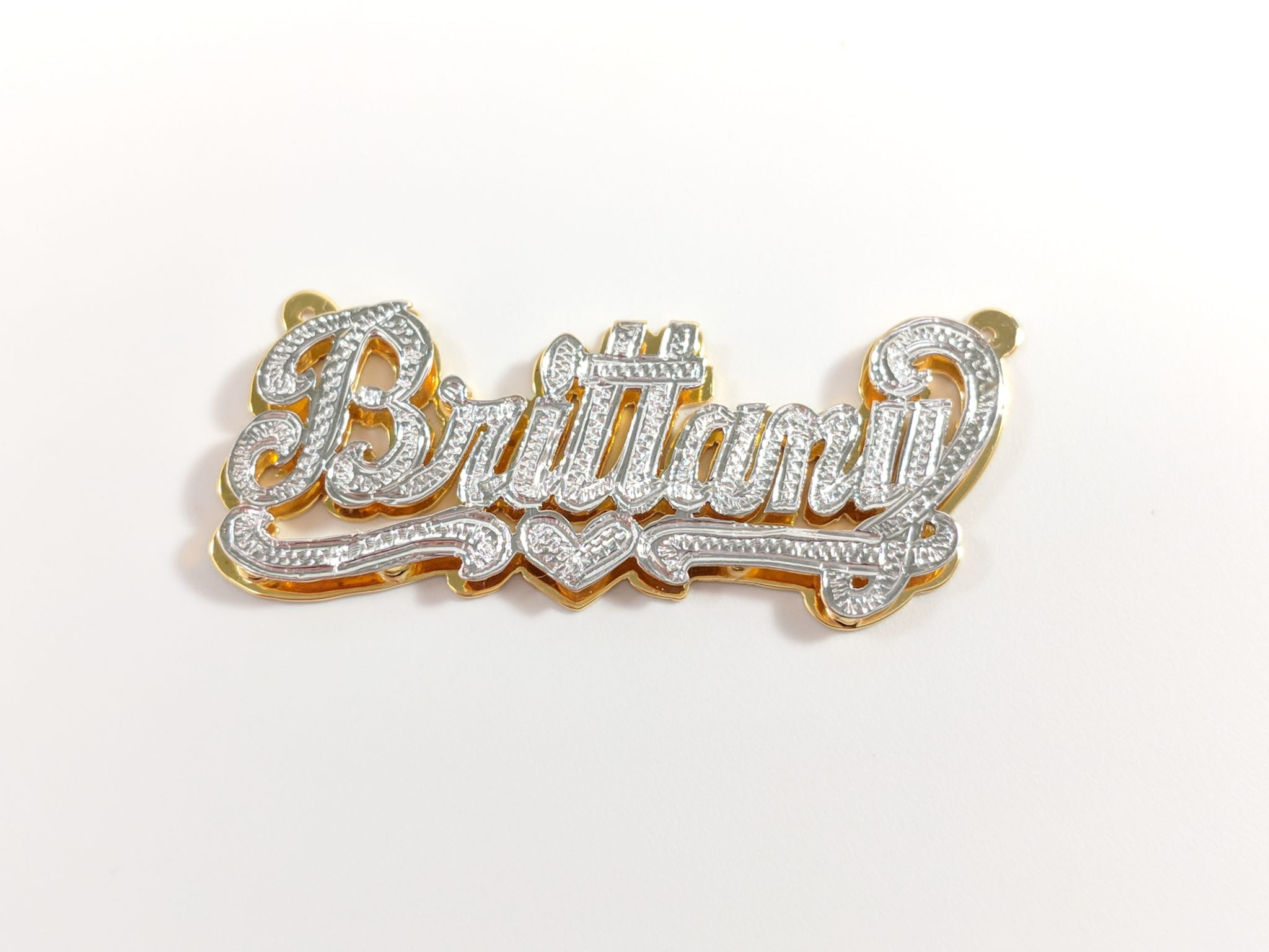 BRITTANY- NAMEPLATE DOUBLE PLATE TWO TONE
