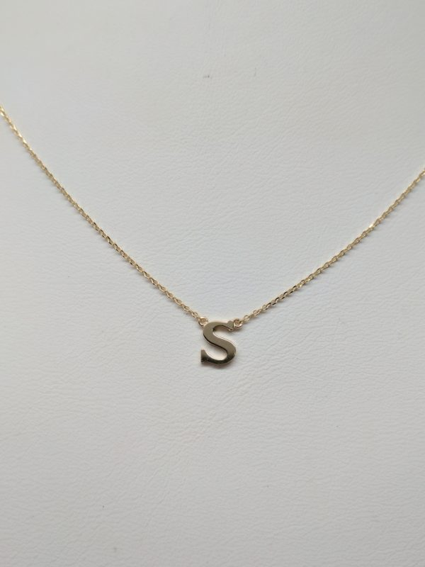 Initial S pendant 14KT yellow gold