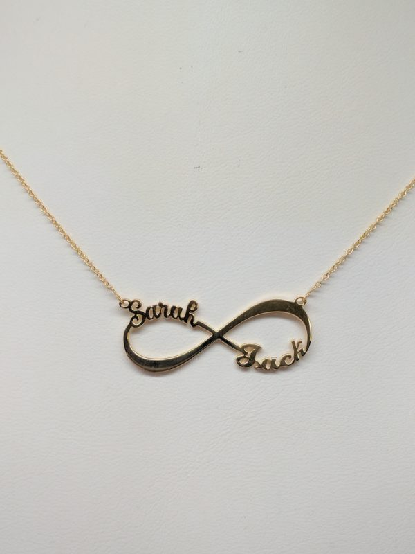14KT gold infinity name necklace