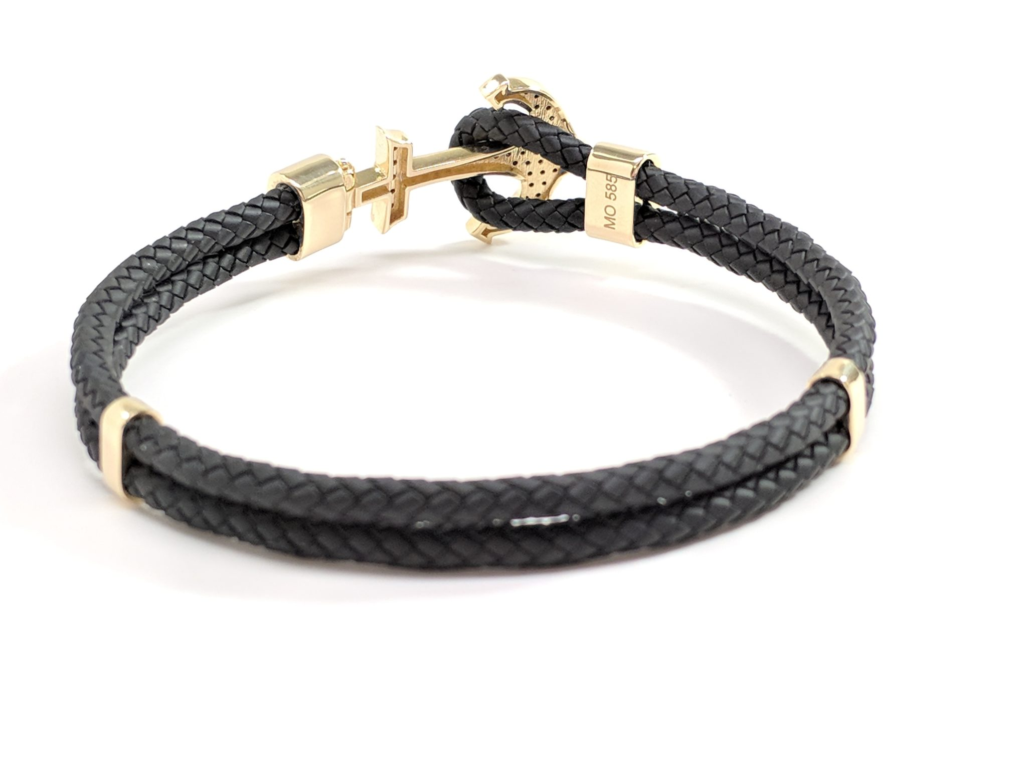 product woven bracelet bangle front frog black bangles the great leather