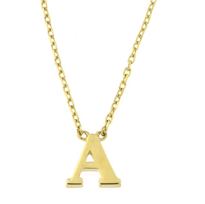14KT Yellow Gold Simple Initial Letter Set