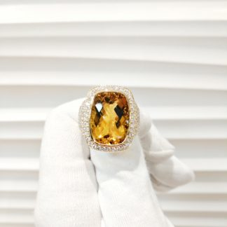 YELLOW CITRINE RING 18KT