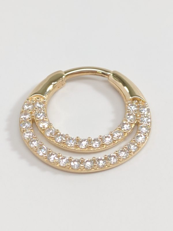 14KT Yellow Gold Septum Ring, Nose Piercing