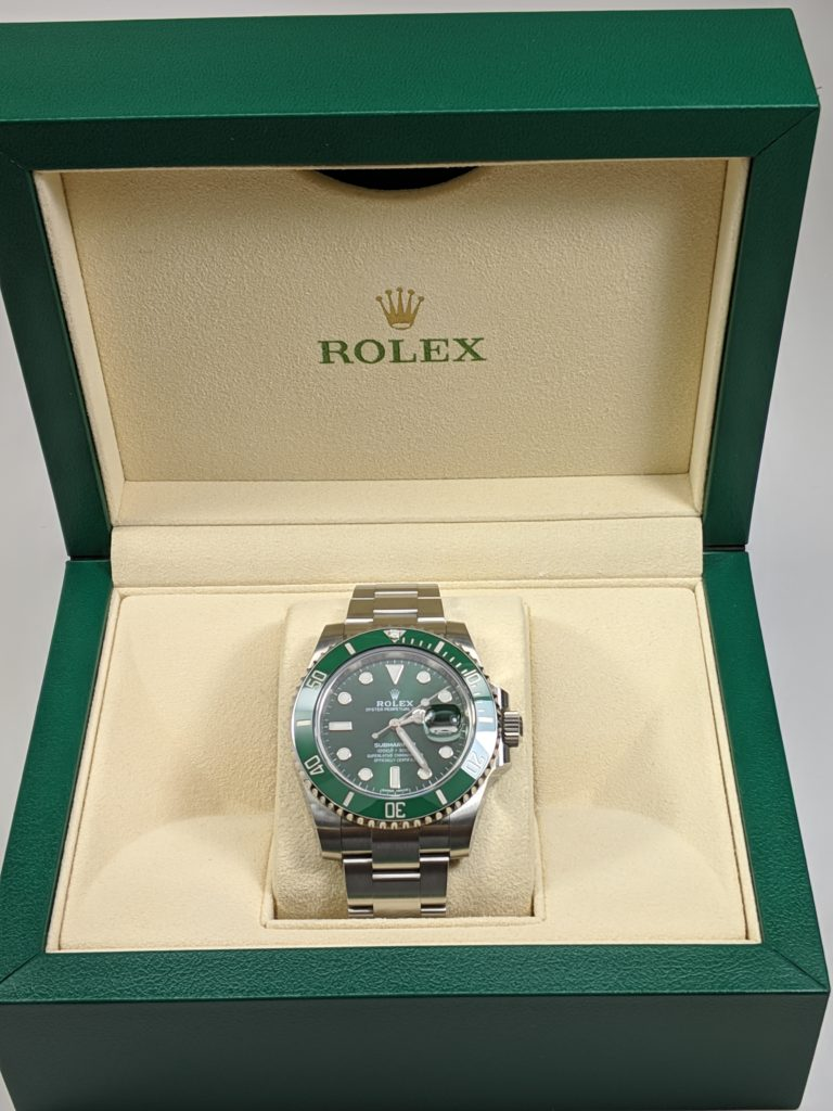 Rolex Submariner 116610LV A.K.A Hulk Pre-Owned Luxury Watch