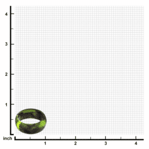Men's Silicone Wedding Band Camo Safety Bands for Active Lifestyles in Platim by Inox Scale View
