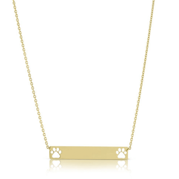 14K Yellow Gold New York Police Pendant on an Adjustable 14K Yellow Gold Chain Necklace