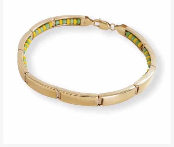 14K Yellow Gold Plain High Polished Ilde Bracelet Tapado Babalawo Orula
