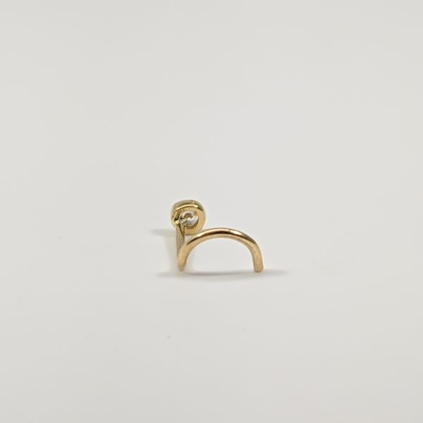 18k Yellow Gold Stud Nose Piercing Body Jewelry Carbo Jewelers