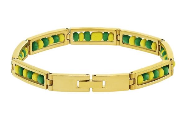 Stainless Steel Gold Plated Orula Ilde Bracelet Open 316L Guage