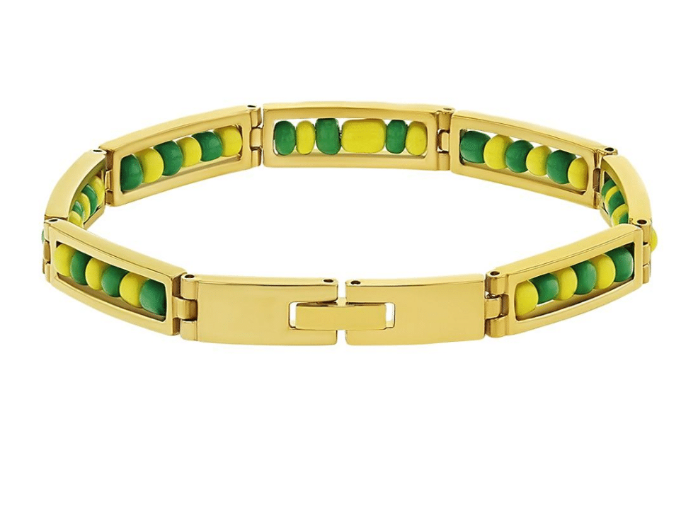 Stainless Steel Gold Plated Orula Ilde Bracelet Open 316L Guage