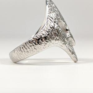 14K White Yellow Rose Gold 18K Spartan Helmet Ring with VS Diamonds VVS Hip Hop Rapper Side View