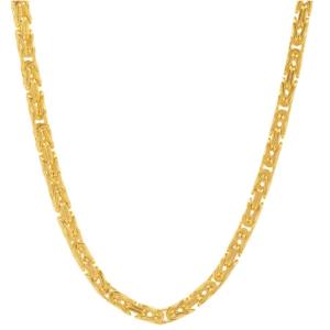 14K Yellow Gold Byzantine Chain MM