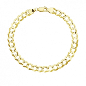 14K Gold Cuban Italian Curb Link Bracelet MM