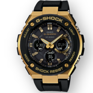 GSTS100G-1A G-Shock by Casio Tough Solar Gold Tone Men's Watch Digital Front View, Analog