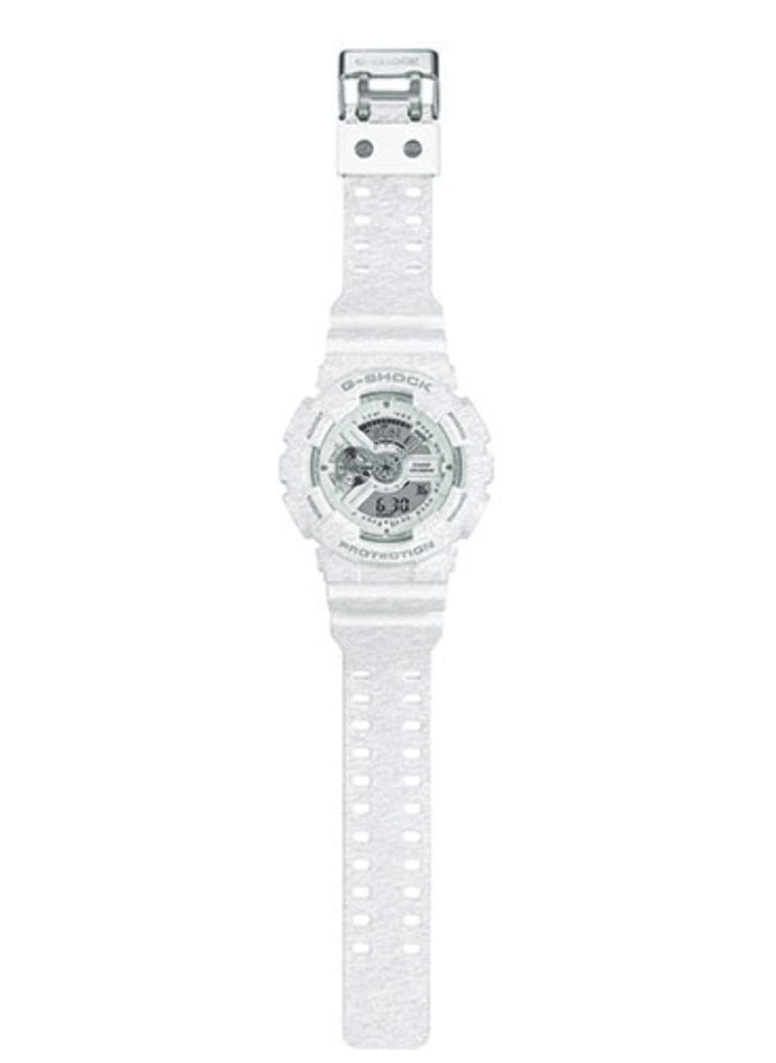 GA110HT-7A G-Shock By Casio White Camouflage Men's Watch Digital, Analog