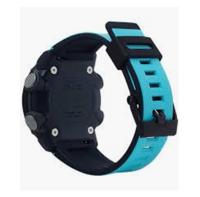 GA2000-1A2 G-Shock by Casio Carbon Core Guard Blue Resin Watch Strap Men's Watch Digital Back View, Analog