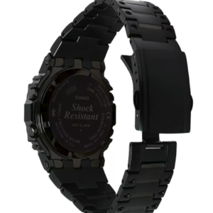GMWB5000GD-1 G-Shock by Casio Tough Solar Black Stainless Steel Bluetooth Connectivity Men's Watch Digital Back View, Analog