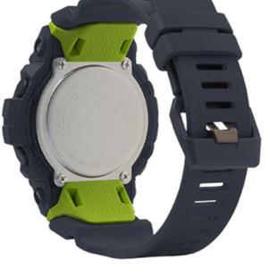 GBD800-8 G-Shock by Casio Bluetooth Black with Green Watch Digital Back View, Analog