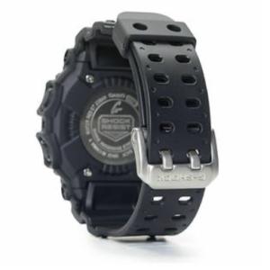 GX56BB-1 G-Shock by Casio Blackout XL size, Tough Solar, Back View