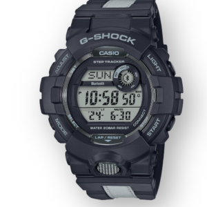 GBD800LU-1 G-Shock Runner Black with Reflective Strip Bluetooth Connectivity Limited Edition, Step Tracker, Front View