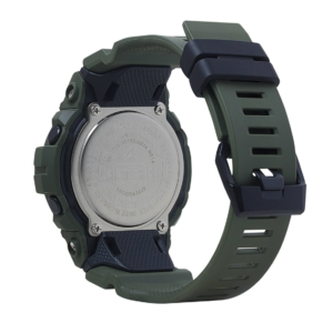 GBD800UC-3 G-Shock by Casio Green Bluetooth Connectivity Mineral Glass, Step Tracker, Back View