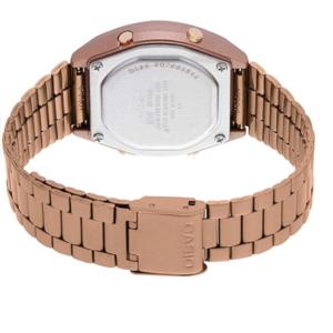 B640WC-5ADF Retro Digital Casio Watch Rose Gold Ladies Timepiece 3294, Metal Strap Analog, Back View